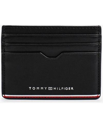 Кожаный картхолдер - черный Tommy Hilfiger