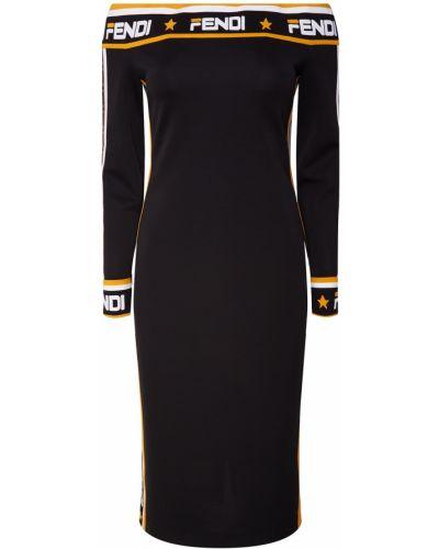 Платье миди облегающее макси Fendi