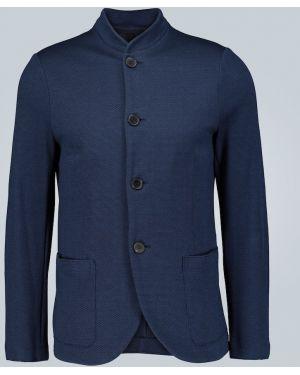 Пиджак двубортный с заплатками Harris Wharf London