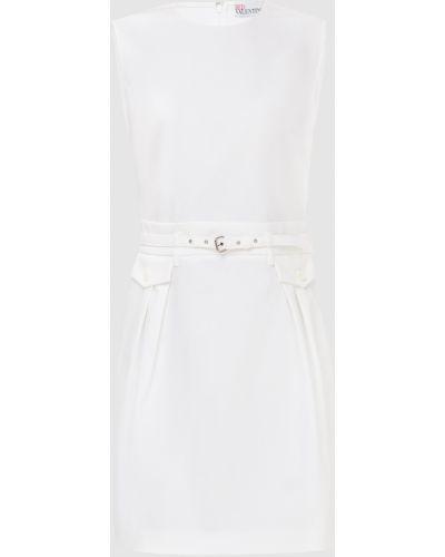 С ремешком белое платье миди Red Valentino