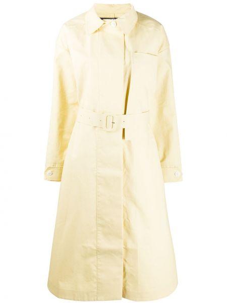 Klasyczny żółty płaszcz z paskiem Jacquemus