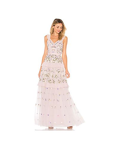 Вечернее платье с вышивкой на бретелях Needle & Thread