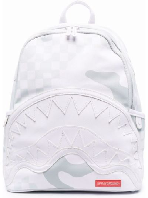Plecak z printem - biały Sprayground