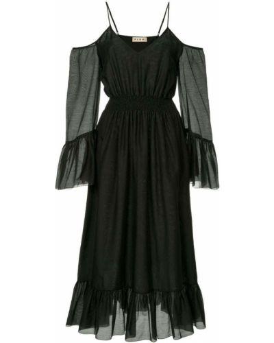 Платье миди с открытыми плечами с поясом Flow The Label