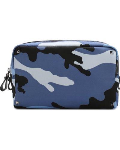 Несессер текстильный синий Valentino