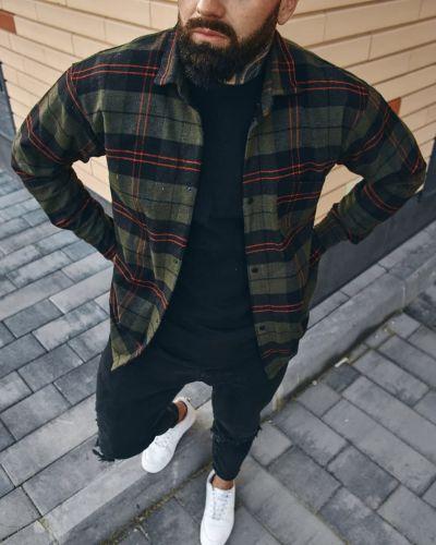 Теплая рубашка - хаки Fashion Man