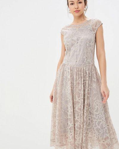 Вечернее платье бежевое мадам т