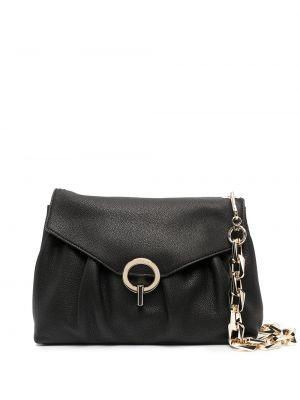 Czarna torebka na łańcuszku skórzana Sandro Paris