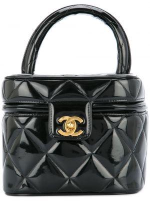 Kosmetyczka skórzana - czarna Chanel Pre-owned