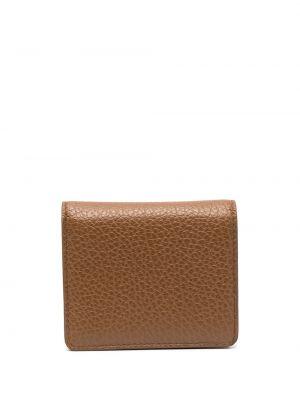 Brązowy portfel skórzany Maison Margiela