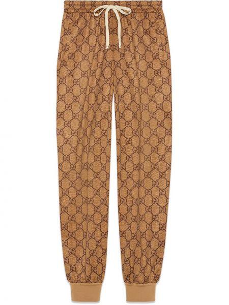 Brązowe majtki bawełniane do biegania Gucci