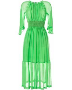 Платье миди шелковое платье-солнце Kitx