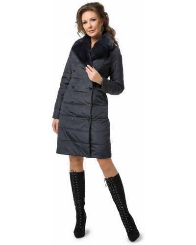 Длинное пальто с воротником на молнии из искусственного меха Dizzyway