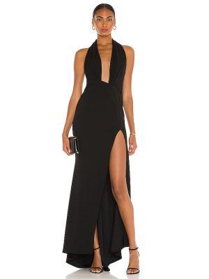 Czarna sukienka na wesele z siateczką Katie May