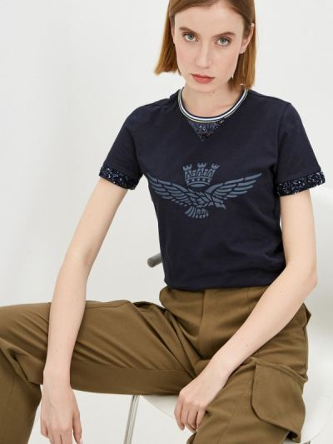 Синяя футболка с короткими рукавами Aeronautica Militare