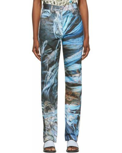 Mom jeans srebrne - czarne Serapis