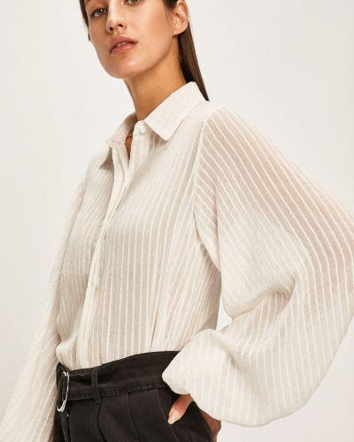 Блузка с длинным рукавом однотонная белая Answear