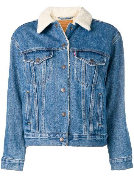 Классическая прямая синяя джинсовая куртка на пуговицах Levi's®