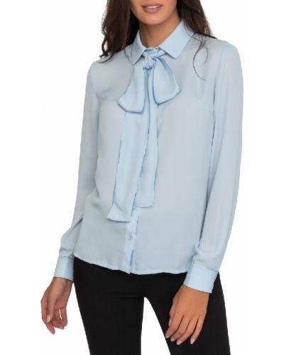 Блузка из вискозы - голубая Gloss
