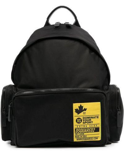 Czarny sport plecak z nylonu Dsquared2