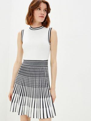 Вязаное трикотажное белое платье Ted Baker London