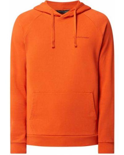 Pomarańczowa bluza z kapturem Peak Performance