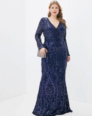 Вечернее платье осеннее фиолетовый Goddiva Size Plus