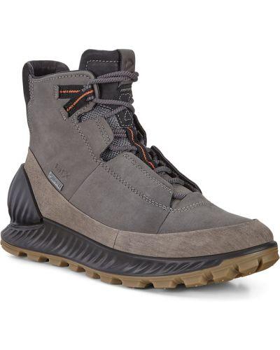Высокие кроссовки коричневый водонепроницаемые Ecco