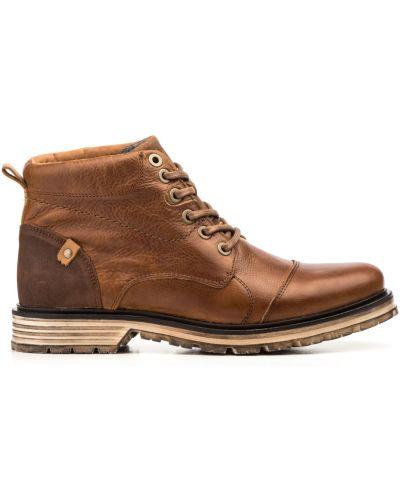 Кожаные ботинки - синие Nautic