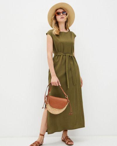 Повседневное зеленое платье Be Main