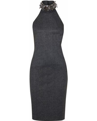 Трикотажное платье с пайетками на крючках Badgley Mischka