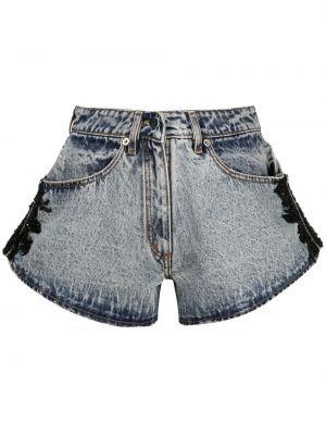 Синие хлопковые джинсовые шорты на молнии Almaz