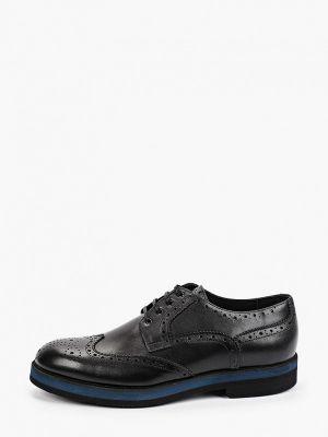 Черные кожаные ботинки F.lli Rennella
