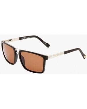 Черные солнцезащитные очки квадратные с завязками Enni Marco
