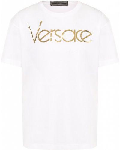 Футболка белая с логотипом Versace