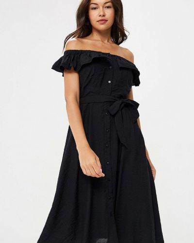 Черное платье осеннее Yumi