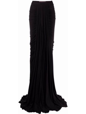 Хлопковая юбка макси - черная Rick Owens Lilies
