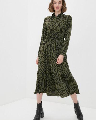 Прямое зеленое платье Haily's