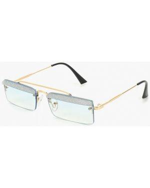 Солнцезащитные очки голубой круглые Vitacci