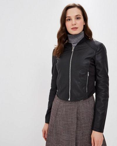 Кожаная куртка осенняя черная Sh