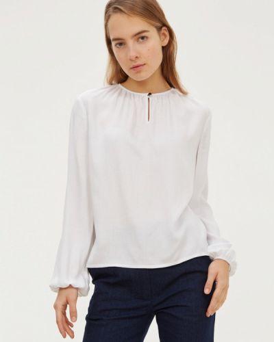 Блузка с длинным рукавом белая базовый Base Forms