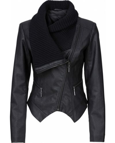 Кожаная куртка джинсовая Bonprix