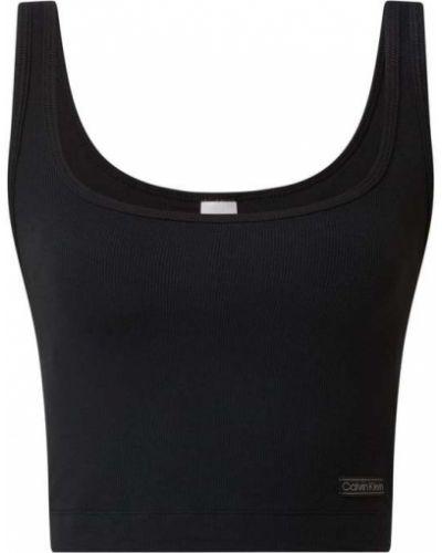 Czarna piżama prążkowana Calvin Klein Underwear