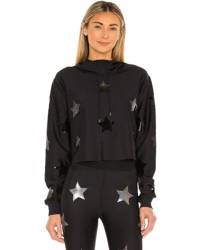 Черный свитшот с капюшоном с манжетами Ultracor