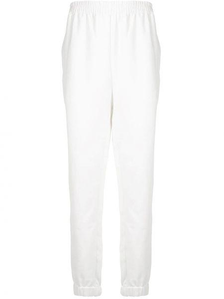 Белые спортивные прямые спортивные брюки с поясом Sir.