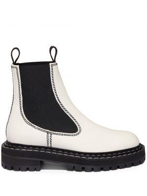 Кожаные белые ботинки челси эластичные Proenza Schouler