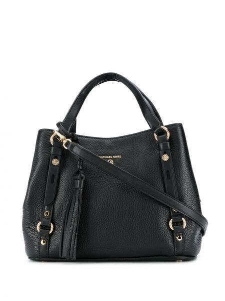 С ремешком черная сумка-тоут из натуральной кожи Michael Michael Kors