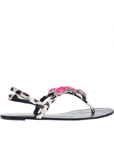Черные сандалии с мехом Schutz