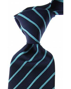 Niebieski krawat w paski z jedwabiu Missoni