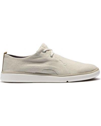 Кожаные кроссовки - белые Timberland